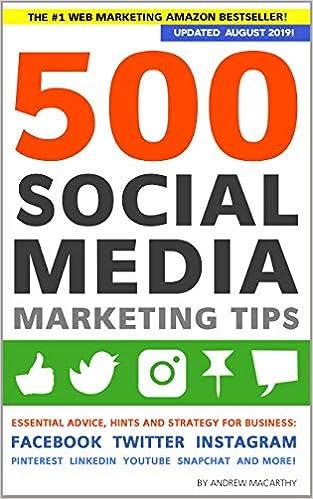 Amazon com: 500 Social Media Marketing Tips: Essential Advice, Hints