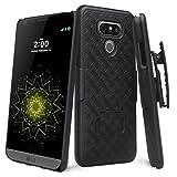phone cases for a lg slide phone - LG G6 Case, SOGA [Holster Combo Series] Slim Hard Armor Defender Protective Case with Belt Clip for LG G6 - Black