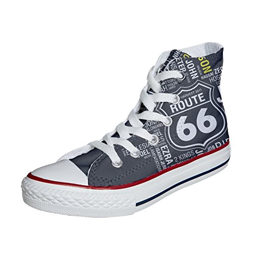 Converse All Star zapatos personalizados (Producto Handmade) Route 66 Black
