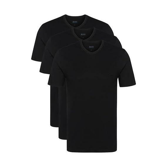 6f098aadee921f BOSS Hugo 3er Pack V Neck V Ausschnitt T Shirts weiss schwarz graumeliert  Vorteilspack  Amazon.de  Bekleidung