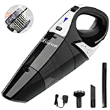 Handheld Vacuum, LOLLDEAL Cordless Vacuum Cleaner, 12V 100W with Quick Charge, Light Weight