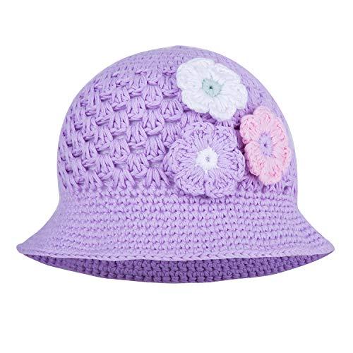 Three Flower Hand Crochet Cotton Floppy Hat