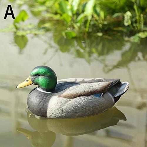 DeemoShop 1PC Outdoor Plastic Simulation Realistic Lifelike Duck Hunting Bait House Garden Villa Park Pond Gardening Decor Ornaments by DeemoShop (Image #4)