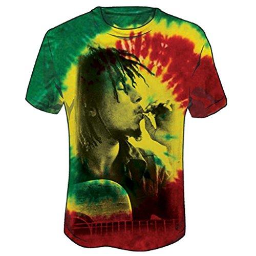 - Bob Marley Men's Rasta Smoke Tie Dye T-Shirt Tie-Dye L