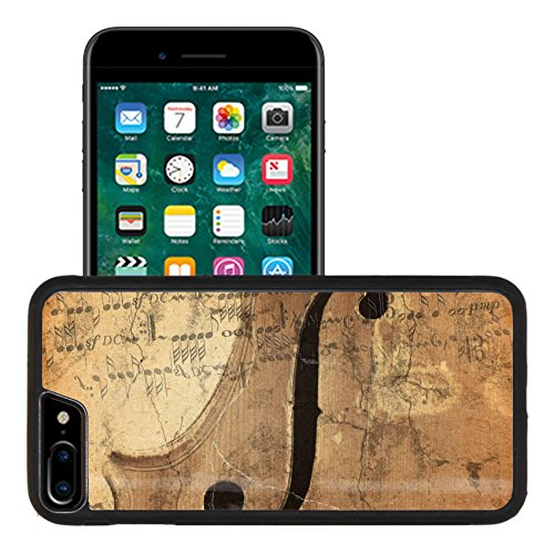 Liili Apple iPhone 7 plus iPhone 8 plus Aluminum Backplate Bumper Snap iphone7plus/8plus Case grunge music background with old fiddle Photo ()