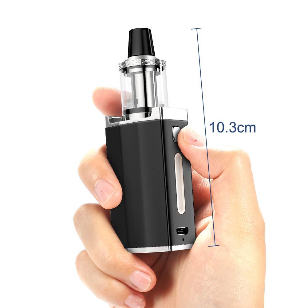 Cigarrillos Electronicos Kit, Yumapuff Robin Cigarrillo Electrónico 50W Con 1500mah Vape Box Mod Battery, Top Refill Sub 0.3 Ohm Depósito De Vapor - ...