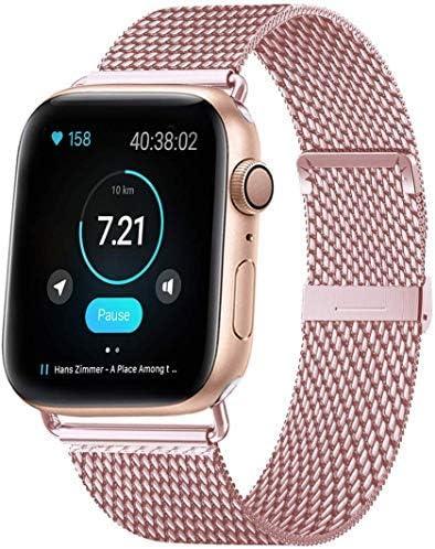 HILIMNY Compatible Correa para Apple Watch 38mm 40mm 42mm 44mm, Malla de Acero Inoxidable Correa de Bucle con, para iWatch Serie 5/4/3/2/1, Sport, Edition: Amazon.es: Deportes y aire libre