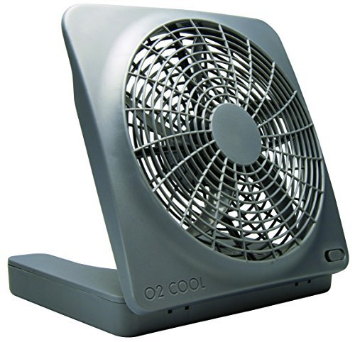 O2COOL 10-Inch Portable Fan with AC Adapter