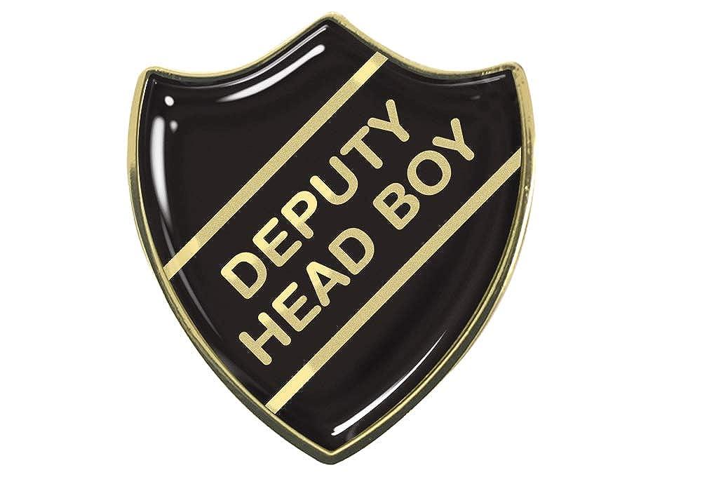 Deputy Head Boy Black School Shield Badge