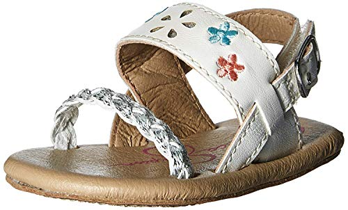 Jessica Simpson Girls' Soho Sandal, White, 2 M US Infant - Jessica Simpson Braid