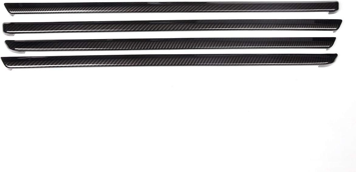 Boltry ABS Engineering Plastics,Carbon Fiber Print Inner Door Panel Stripe Cover Automobile Door Moulding Trims Accessories 8Pcs for Honda 10th Civic LX EX Sport 2016 2017 2018 2019 2020