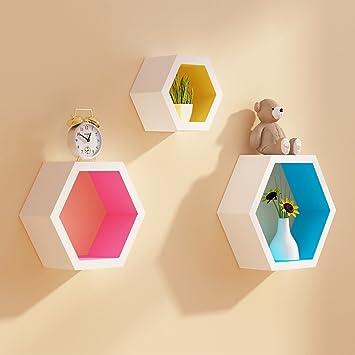 Bücherregal gezeichnet  Amazon.de: Desktop Bücherregal Gezeichnet mit Farbe Geometrische ...