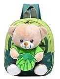 Remeehi Kids Cute Bear Canvas School Backpack Green