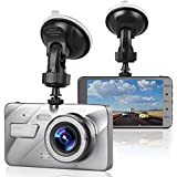 Dash Cam Car Camera, LinkStyle 4 LCD Screen FHD 1080P Wide Angle Dashboard Camera Car DVR Video Recorder Built in G-sensor Emergency Recording, Night vision, WDR, Loop Recording, Parking Mode
