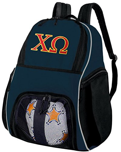 Broad Bay Chi Omega Soccer Backpack or Chi O Sorority Volleyball Ball Backpack by Broad Bay