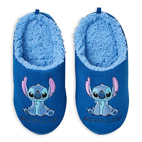 Disney Stitch Slippers for Women Size L L 9/10 Blue]()