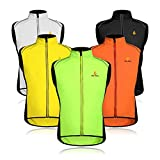 Wolfbike Cycling Jacket Jersey Vest Wind Coat Windbreaker Jacket Sportswear Outdoor (Vest-Green, Large)