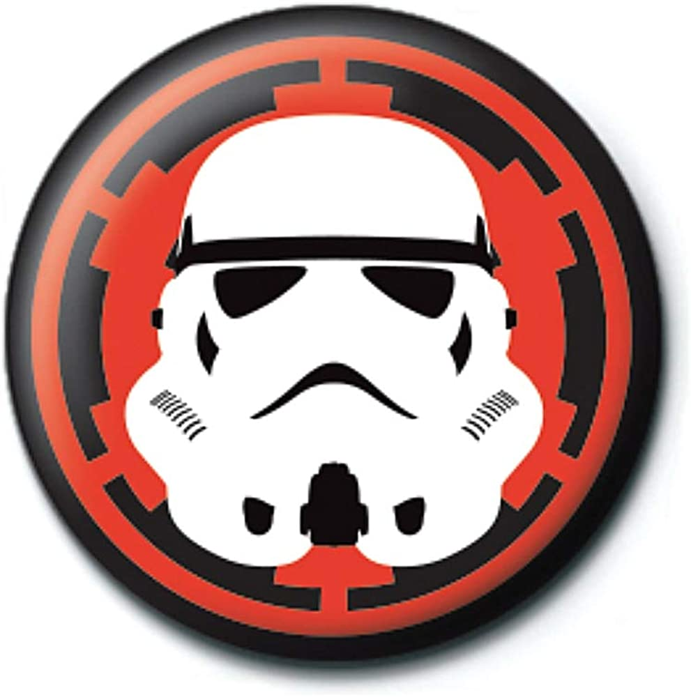 Genuine Star Wars Stormtrooper Button Badge Pin Badge Retro Lucasfilm Soldier