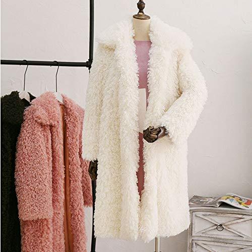 Épais Blanc Blouson Longues Et Moelleux Bzline Fourrure Vêtements Femme Cardigan D'hiver Chaud Doux Manches tq4OwIO