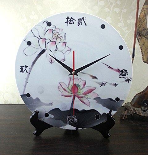 12 pollici in ceramica orologio orologio orologio doppio uso elettronico orologio da parete