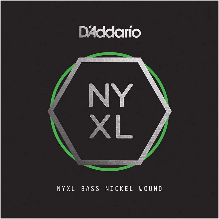 D'Addario NYXLB135T Nickel Wound Bass Guitar Single String, Long Scale, Tapered