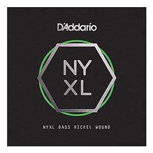 D'Addario NYXLB045 Nickel Wound Bass Guitar Single String, Long Scale