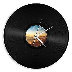 Recycled Record Vinyl Wall Clock Beach 3 - VinylShopUS