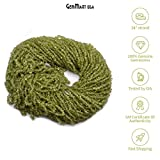 Green Peridot Gems Chips 3-4mm/34 Inch Strand of Beads