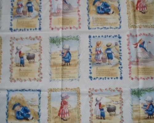 Nursery Rhymes blocks Elizabeth Studio (Nursery Rhyme Fabric)
