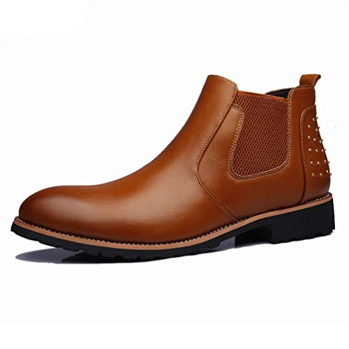 f41555a353 Men Ankle Boots Leather Chelsea Boots Breathable Outdoor Casual ...
