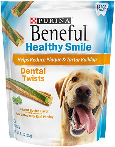 Purina Beneful Beneful Healthy Smile Dental Dog Snacks, Large Twists, 8.4-Ounce Pouch, Pack of (Purina Dog Beneful Healthy)
