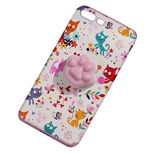 Pinzhi Katze Claw Typ Telefon Fall für iPhone 6 Plus, iPhone 6s Plus 3D Nette weiche Silikon Pappy Squishy Katze