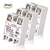 MYSWEETY 3PCS SSR-40DA Solid State Relay Single Phase Semi-Conductor Relay Input 3-32V DC Output 24-380V AC …