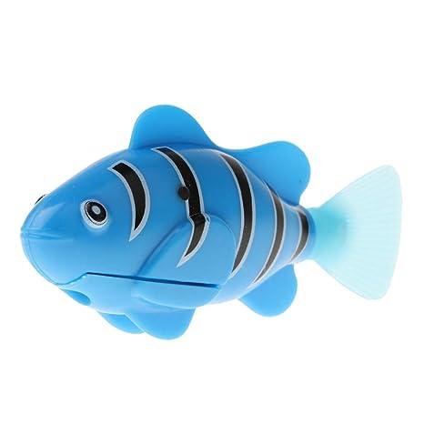 D DOLITY Juguete de Pez Eléctrico Realista Plástico Decoración para Acuario Pecera - Azul
