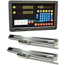 """2 Axis DRO Digital Readout Mill Pacakage Linear Glass Scale 0.0002"""" Fit On Bridgport and Benchtop Mill Brand New"""