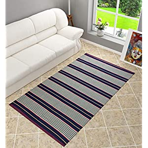 Shankara Reversible Pure Cotton Carpet | Galicha |Dari | Floor Mat | Rug | for Home Living Room – (4 X 6 Feet…