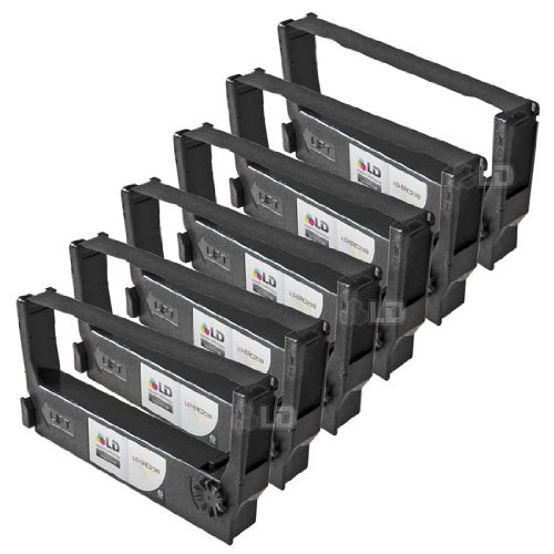 - LD © Epson Compatible Replacement 6 Pack Black POS Ribbon Cartridges - ERC-23B