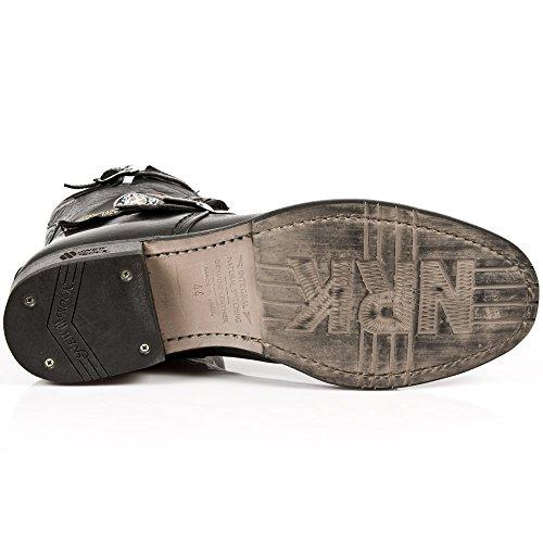New aus S1 Black Leder GY05 Rock Alle M Stiefel rtwY6Prq