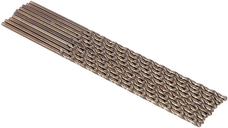 SHENYUAN 10pcs//Set Twisted Drill Bits High Steel Straight Shank Lengthened Cobalt Drill Bits