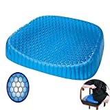 TQZY Orthopedic Gel Seating Cushion Ergonomic Memory Foam Coccyx Cushion for Lower Back, Tailbone and Sciatica Relief - Portable Seat Pad for Office, Home, Car, Wheelchair