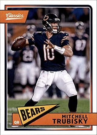 2e26f804d1b 2018 Classics Football #17 Mitchell Trubisky Chicago Bears Panini NFL Card