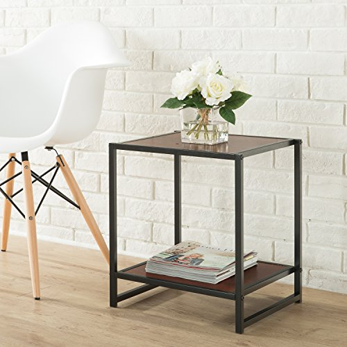 (Zinus Priyanka Modern Studio Collection 15 Inch Square Side Table / End Table / Coffee Table)