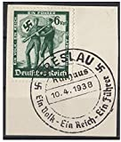 RARE UNIQUE FIRST DAY OF ISSUE NAZI AUST