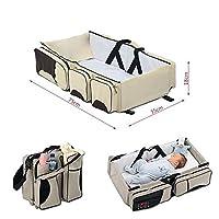 Screl - Sac à langer de voyage 3 en 1 avec rangements pour bébé berceau lit multifonction portable