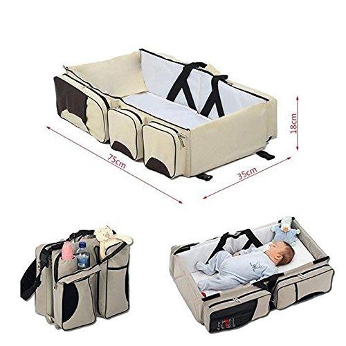 Sac /à langer de voyage 3 en 1 avec rangements pour b/éb/é berceau lit multifonction portable Screl