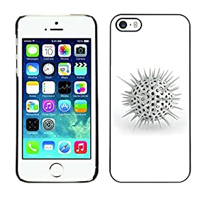 GagaDesign Phone Accessories: Hard Case Cover for Apple iPhone 5 5S - White Spikes