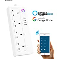 Smart Wifi Plug Extension iOS Android App Remote Control Power Socket Strip with 4 individually controlled AC Plug Outlets