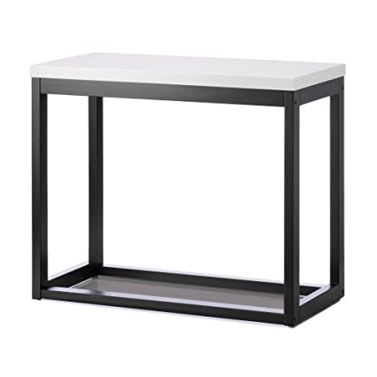 Thin Long Table, Black And White Top Long Side Tables Living Room