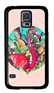Tropical red ostrich as TPU Black Samsung Galaxy S5 Cases