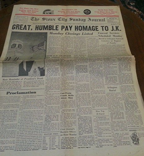Nov 24, 1963 SIOUX CITY IOWA JOURNAL Newspaper JFK Newspaper Section A ()